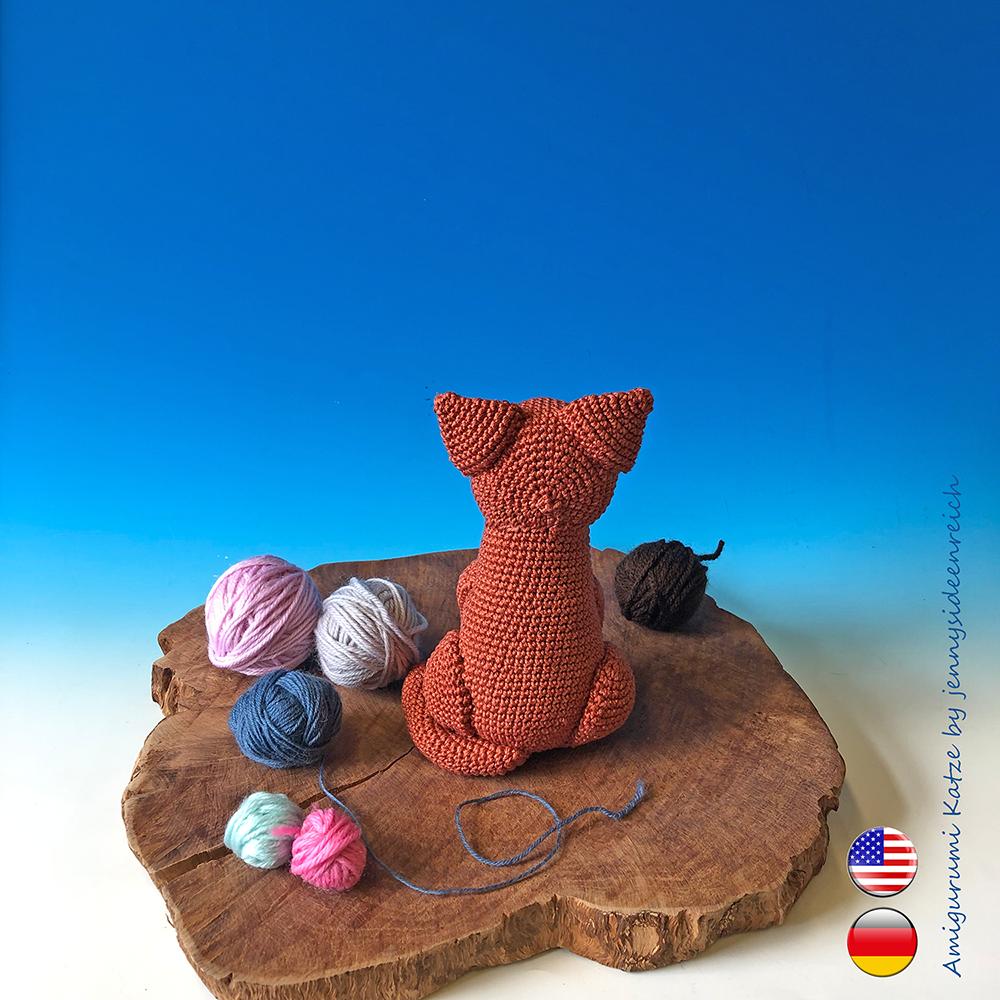 Katze Amigurumi Häkelanleitung | 1000x1000